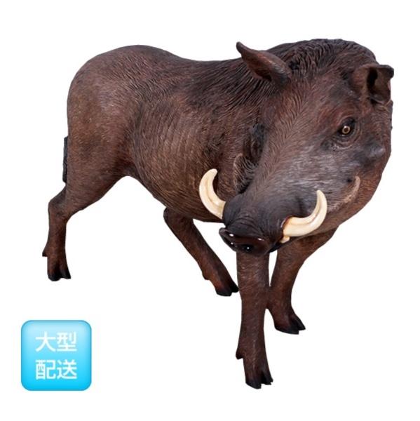 【開店記念セール!】 FRP アフリカ産イボイノシシ Warthog 『動物園オブジェ アニマルオブジェ 店舗・イベント向け』:エクステリアのキロ支店 / African-エクステリア・ガーデンファニチャー