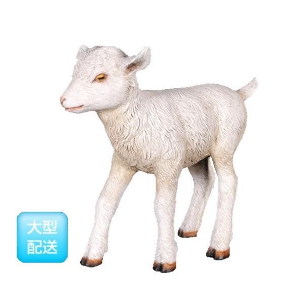 送料無料【FRP】ヤギの赤ん坊!実物と見間違うほど、精巧に作られた動物オブジェ FRP ヤギの赤ん坊 / Goat-Kid Standing 『動物園オブジェ アニマルオブジェ 店舗・イベント向け』
