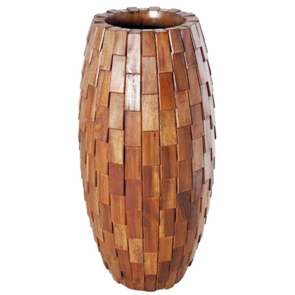 FRP 鼓型プランター(木重柄) / Elonga Planter 47x95cm 『プランター 店舗・イベント向け』