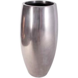 送料無料 FRP メタリックな色の縦型プランター FRP 鼓型プランター 再入荷/予約販売! アルミ Elonga イベント向け 47x120cm Planter プランター 至高 店舗