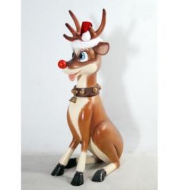 送料無料 FRP こっけいな大トナカイ FRP 毎日激安特売で 営業中です 送料0円 Funny 店舗 Reindeer 7ft. クリスマスオブジェ イベント向け