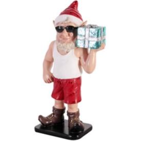 FRP 日差しの中のお手伝い小びと / Sunny Elf with Gift 『クリスマスオブジェ 店舗・イベント向け』