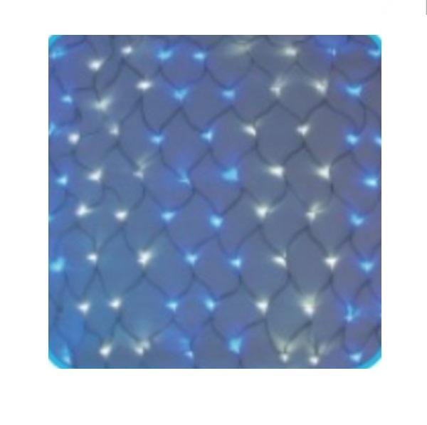 コロナ産業 LED180球ネットライト連結専用/電源部別売り(ブラックコード) LR180WB LED色:白・青色 『イルミネーションライト』