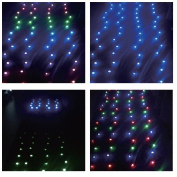 コロナ産業 LED装飾照明 RGB カーテンライト(ブラックコード80球) DF80RGB LED色:RGB 『イルミネーションライト』