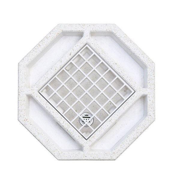 オンリーワン 風水水栓パン オクタゴン HV3-G211P8-W 『水栓柱・立水栓 水受け(パン)』 ホワイト