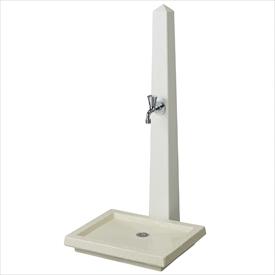 トーシン 水栓柱 アン トーレ SC-UN-TORRE-WH セット商品 『水栓柱・立水栓セット 蛇口 水受け付き 3点セット』 ホワイト