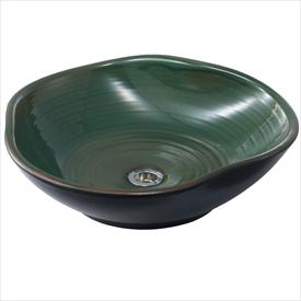 トーシン ガーデンパン 信楽45(緑) GPS-45-GN 『水栓柱・立水栓 水受け(パン)』
