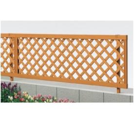 リクシル 新日軽 木樹脂フェンスJ1型 本体 H=600用  『ラチス 木調フェンス 柵』