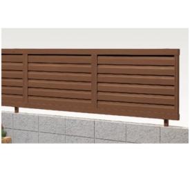 リクシル 新日軽 木樹脂フェンスJ3型 本体 H=600用 「横ルーバー」  『木調フェンス 柵』