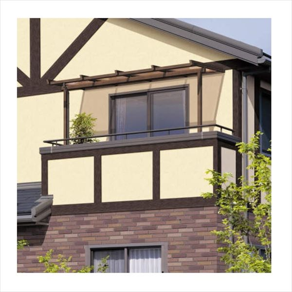 三協アルミ 2階設置型テラス ナチュレNU型 1.0間×4尺 壁付け納まり 600タイプ 関東間 単体 TPUA-6040S 熱線遮断ポリカ 熱線遮断ポリカ