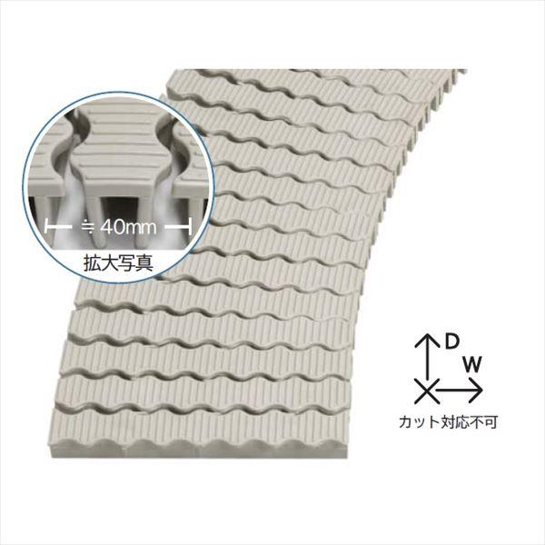 ミヅシマ工業 樹脂製グレーチング フリーハードルW ♯20  200mm×2m×27mm 432-0610 *受け枠別途 アイボリー