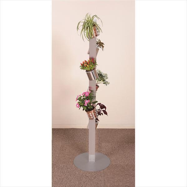 愛紳照明 San Francisco Flower #SA-22 セット1 ステンレス(SUS304)製 *鉢用台座 ×3、銅製鉢植 ×3、受け皿 ×3 セット ステンレス