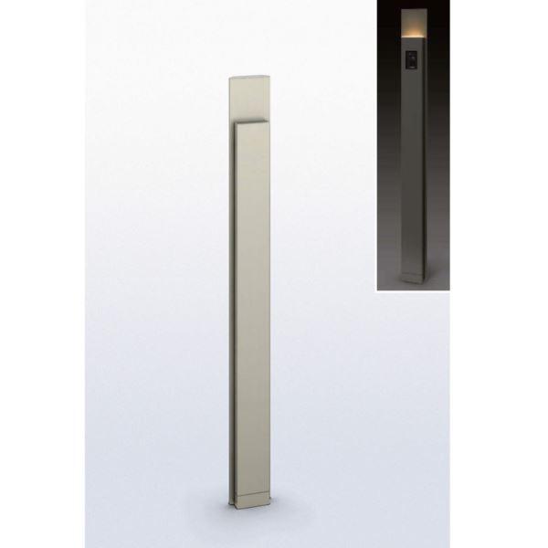 送料無料【YKKAP】表札、インターホンを備えた細型タイプの機能ポール YKKAP ルシアス サインポール B01型 URC-B01 照明付き インターホン加工なし アルミカラー *表札はネームシールとなります 『機能門柱 機能ポール』