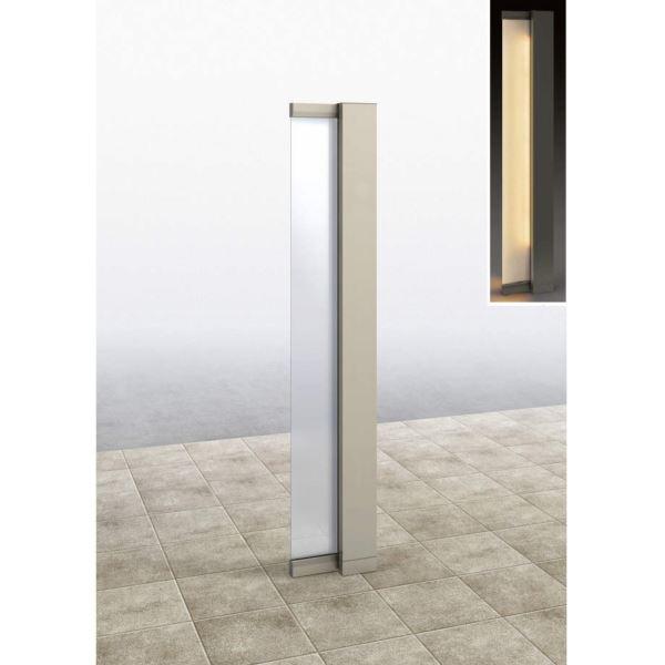 YKKAP ルシアス サインポール A01型 URC-A01 照明付き インターホン加工なし Rタイプ アルミカラー *表札はネームシールとなります 『機能門柱 機能ポール』