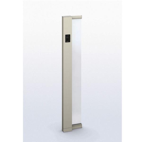 YKKAP ルシアス サインポール A01型 URC-A01 照明なし インターホン加工付き Lタイプ アルミカラー *表札はネームシールとなります 『機能門柱 機能ポール』