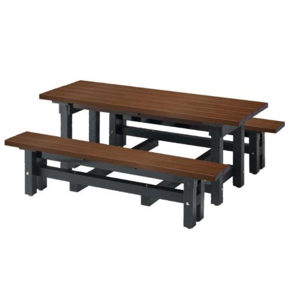 送料無料 ミヅシマ工業 商品 テーブルとベンチの一体型 ♯67 リサイクルデュオN #246-0150 公式サイト