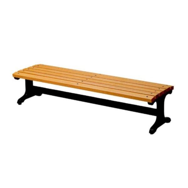 ミヅシマ工業 ベンチ(木製) C3・背無し #360-0140