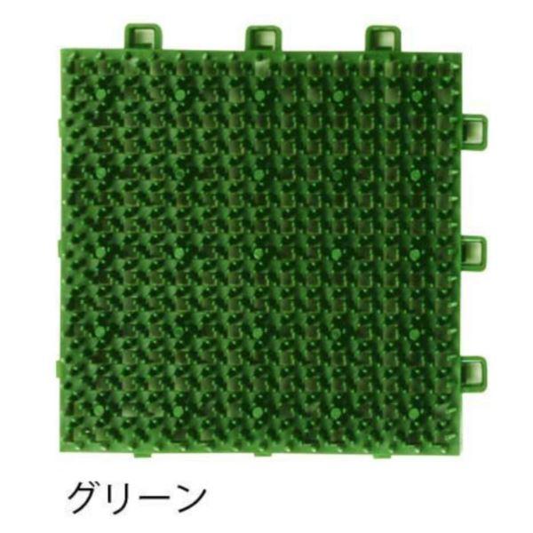 ミヅシマ工業 サポートマット 本体 150×150×22mm 1ケース(120ピース入) グリーン #409-0010 グリーン
