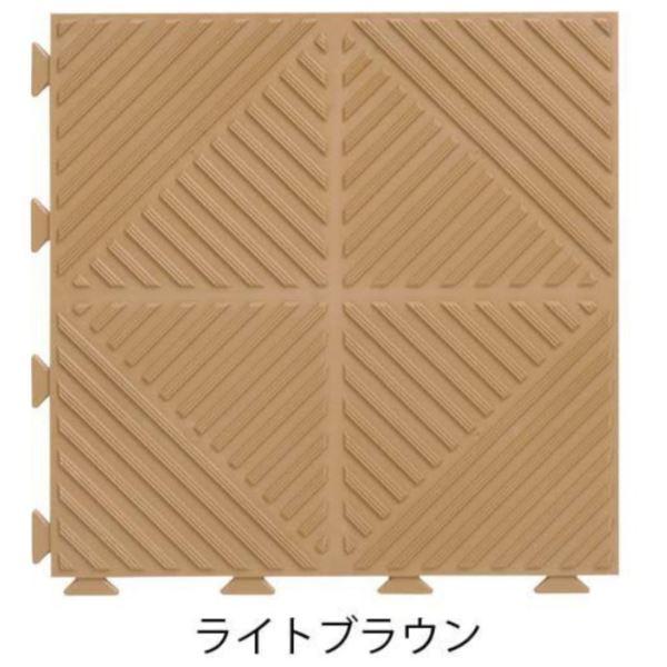 ミヅシマ工業 ゴムライクマット 本体 305×305×8mm 1ケース(36ピース入) ライトブラウン #401-0650 ライトブラウン