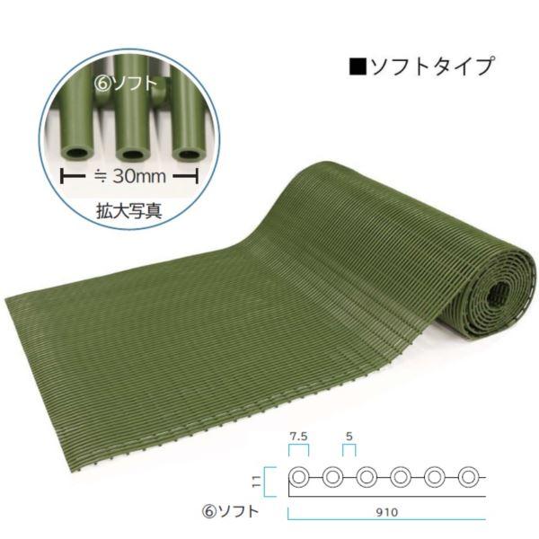 送料無料【ミヅシマ工業】耐久性・耐候性に優れた新タイプのロールマットです。 ミヅシマ工業 セーフティマット 本体 ソフト 910mm × 6m × 11mm 1巻