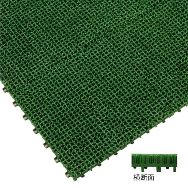 ミヅシマ工業 ジョイント人工芝生 業務用 本体 300 × 300 × 25mm 1ケース(50ピース入)