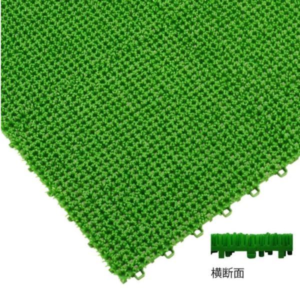 ミヅシマ工業 ジョイント人工芝生 ホームタイプ 本体 300 × 300 × 20mm 1ケース(70ピース入) グリーン
