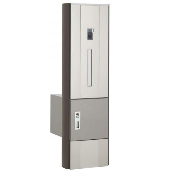 四国化成 ファミーユ門柱1型 1世帯用 本体 宅配ボックス付 インターホン取付用 『インターホンは別途』 FMP1-B16N