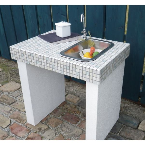 テック堂(マリーンテック) ガーデンシンク 組み合わせ例A *蛇口・水栓金具・目皿・給排水管は別売りです