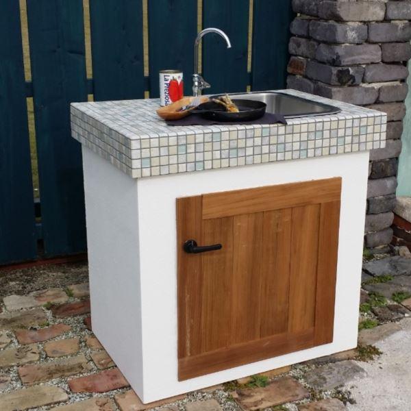 テック堂(マリーンテック) ガーデンシンク 組み合わせ例B *蛇口・水栓金具・目皿・給排水管は別売りです