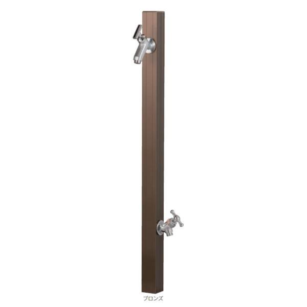 オンリーワン アルミ立水栓ステーク 50 蛇口セット 補助蛇口仕様 GM3-AL50DH2  ブロンズ  *アダプターは付属しておりません ブロンズ