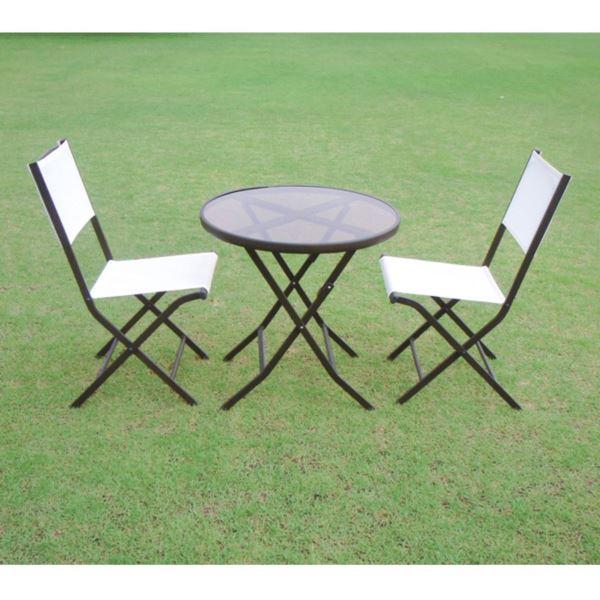 東洋石創 テーブル&チェアー ガーデンテーブル チェアー 3点セット #80953