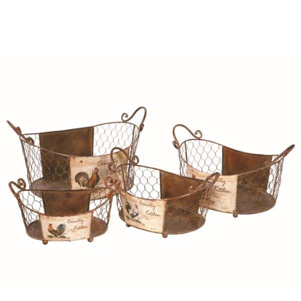 東洋石創 プラントアイテム Waterring Can ガーデンバスケット(A・B・C・D) *4個セット #82240/82241/82242/82243