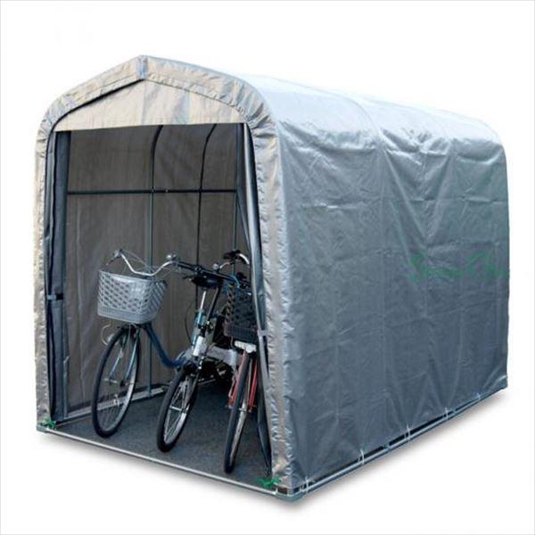 欲しいの サイクルポート 『DIY向け テント生地 屋根』:エクステリアのキロ支店 南栄工業 サイクルハウス SMS-150 SVU型 本体セット 自転車置き場 家庭用-エクステリア・ガーデンファニチャー