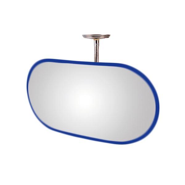 信栄物産 防犯ミラー室内用 フレキシブル 小判 385×760 枠:青  #KA-750BL