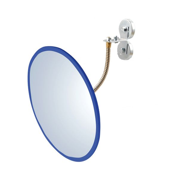 信栄物産 防犯ミラー室内用 マグネットタイプ 丸型 310φ 枠:青  #H-30M-BL