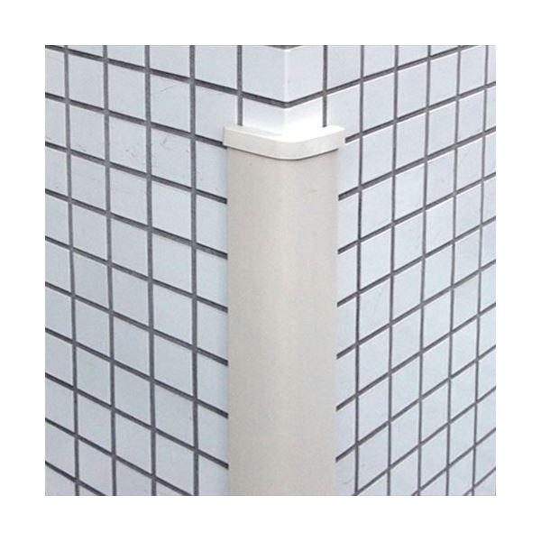信栄物産 コーナーガード(キャップ付) 65×65×13 アイボリー(裏板樹脂)  #CHS-A10