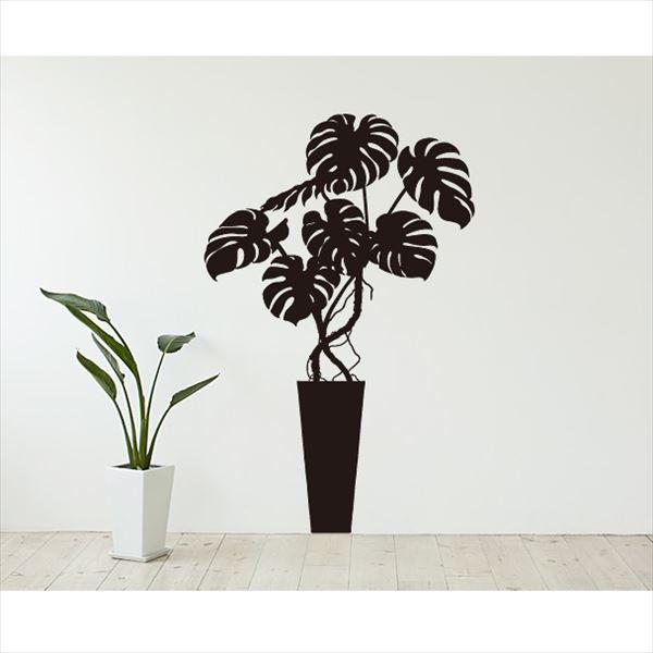 東京ステッカー 高級ウォールステッカー 植物 モンステラ Lサイズ *TS0003-FL ブラック 『おしゃれ かわいい』 『壁 シール』
