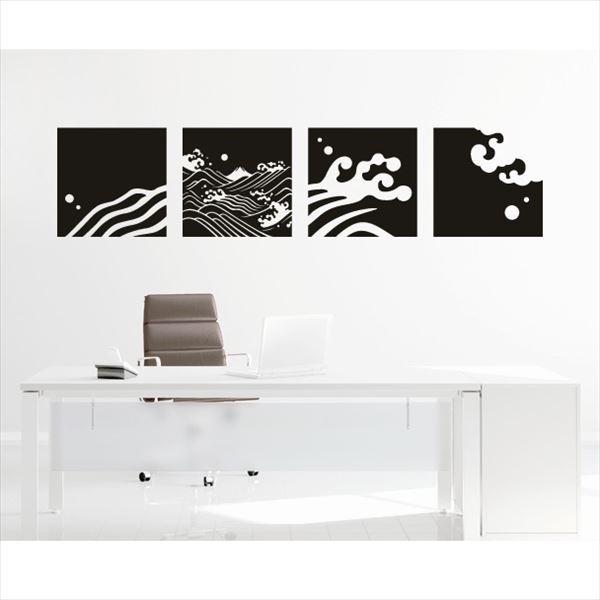 東京ステッカー 高級ウォールステッカー 和風 荒波に富士 Lサイズ *TS0030-BL 白群 『おしゃれ かわいい』 『壁 シール』