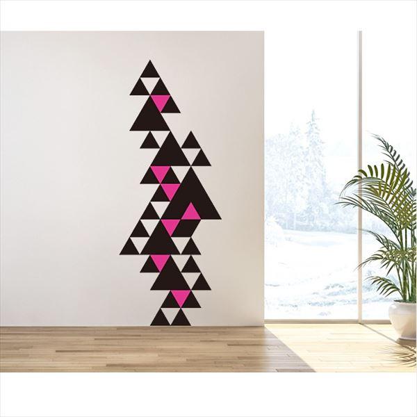 東京ステッカー 高級ウォールステッカー グラフィックアート トライアングル Mサイズ *TS0015-AM ブラック 『おしゃれ かわいい』 『壁 シール』