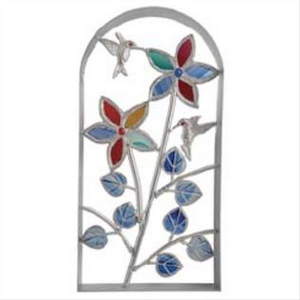 メイク クラフトガラススクリーン(シャインガラス) アーチ型  五弁花  ・AS04  『おしゃれ』