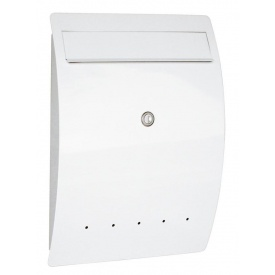 【激安大特価!】  オンリーワン ゼラフィーニ メールボックス エルベ SG1-450WH 『郵便ポスト』 ホワイト:エクステリアのキロ支店-エクステリア・ガーデンファニチャー