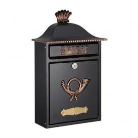 オンリーワン ハイビポスト クラシカルタイプ クラシカルポストB MA1-64063027 『郵便ポスト』 ブラック/ゴールド