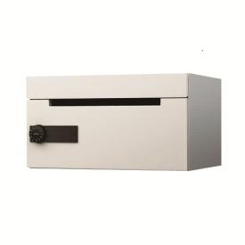 ナスタ 集合住宅用ポスト 前入前出タイプ KS-MB508S-L-W (1戸用・受注生産品) 屋内用 『郵便ポスト』 ホワイト