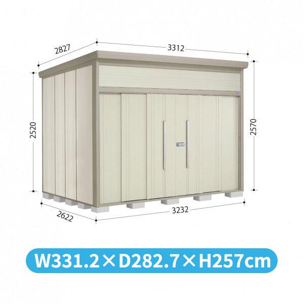タクボ物置 JN/トールマン JN-3226 一般型 標準屋根 『追加金額で工事も可能』 『屋外用中型・大型物置』 ムーンホワイト