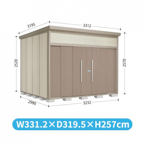 タクボ物置 JN/トールマン JN-S3229 多雪型 標準屋根 『追加金額で工事も可能』 『屋外用中型・大型物置』 カーボンブラウン