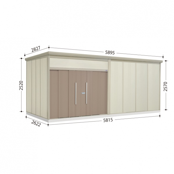 タクボ物置 JN/トールマン JN-Z5826 一般型 結露減少屋根  『屋外用中型・大型物置』 カーボンブラウン