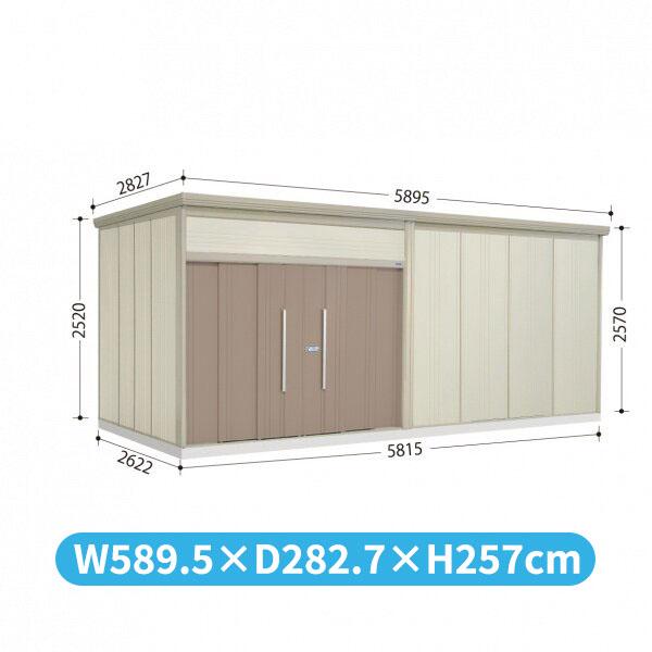 タクボ物置 JN/トールマン JN-S5826 多雪型 標準屋根  『屋外用中型・大型物置』 カーボンブラウン