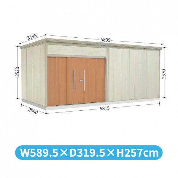 タクボ物置 JN/トールマン JN-Z5829 一般型 結露減少屋根  『屋外用中型・大型物置』 トロピカルオレンジ