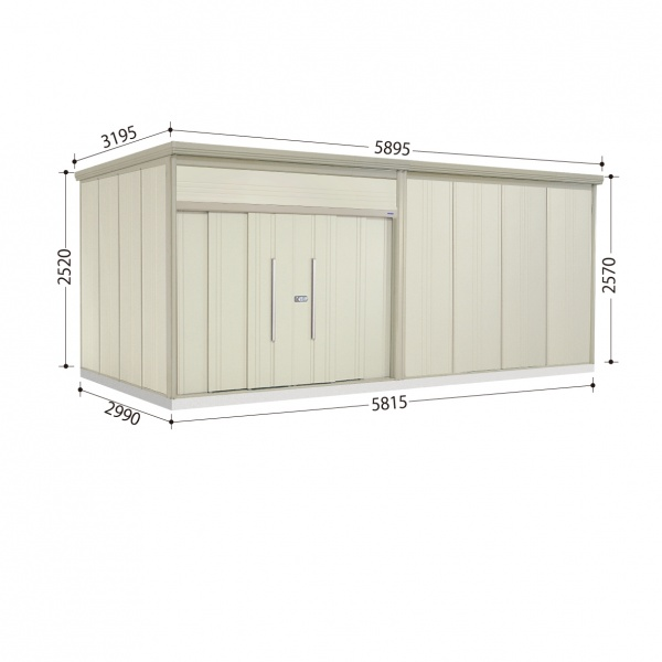 タクボ物置 JN/トールマン JN-S5829 多雪型 標準屋根  『屋外用中型・大型物置』 ムーンホワイト