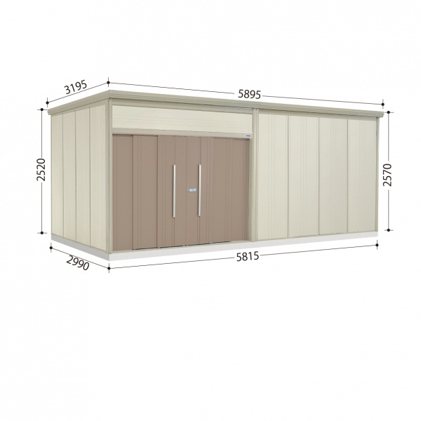タクボ物置 JN/トールマン JN-S5829 多雪型 標準屋根  『屋外用中型・大型物置』 カーボンブラウン